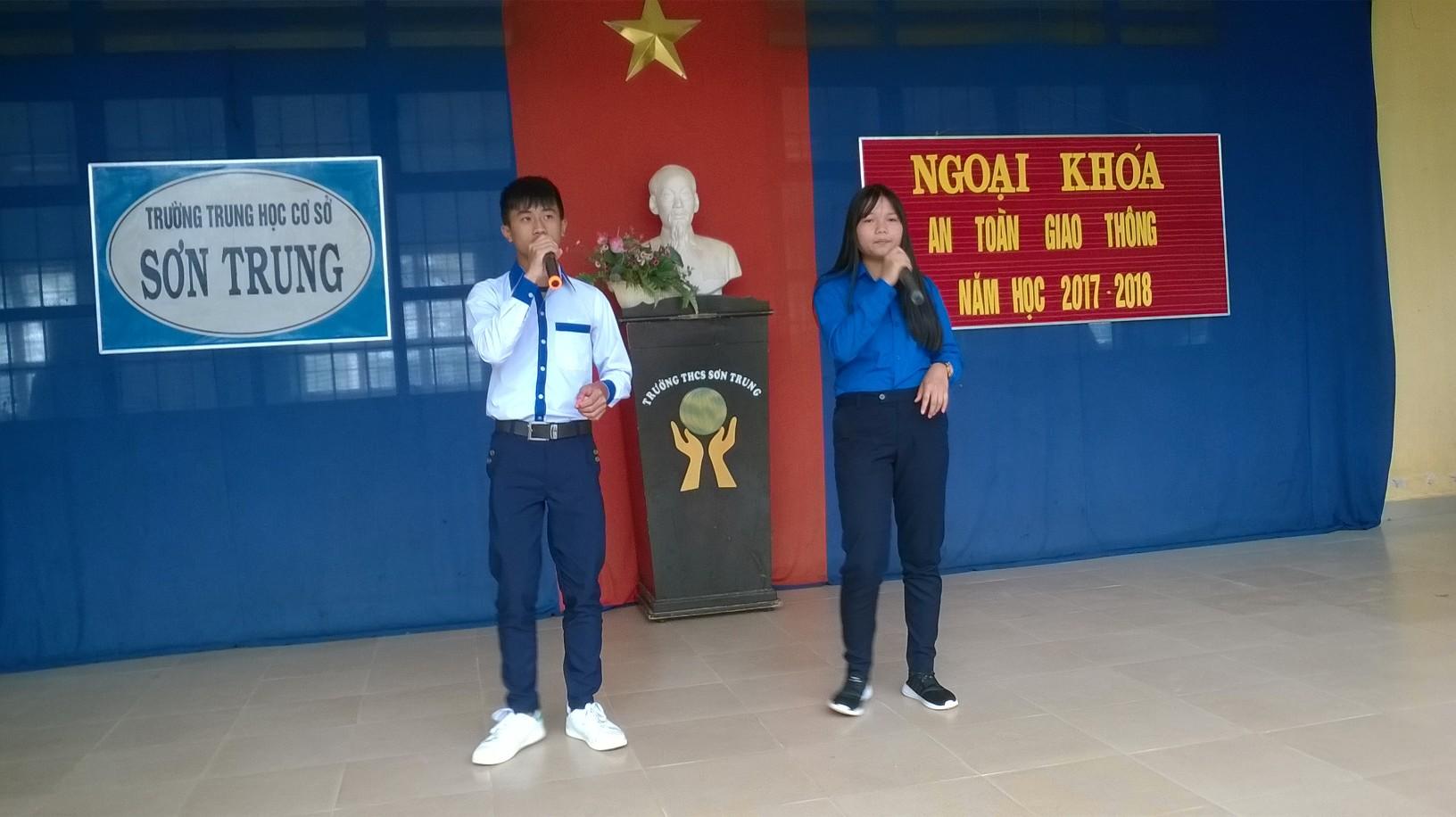 Ngoại khóa An Toàn GIao Thông năm học 2017-2018
